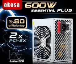 AKASA 600W ESSENTIAL PLUS 12CM FAN 20+4 PIN 80+
