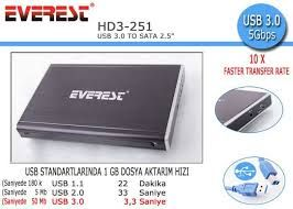 EVEREST HD3-251  USB3,0 HDD KUTU