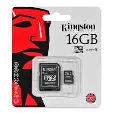KINGSTON 16GB MICRO SD CLASS 10 ADAPTORLU