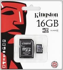 KINGSTON 16GB SDHC KART (CLASS4)