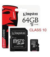 KINGSTON 64GB CLASS 10 MICRO SD KART ADAPTORLU