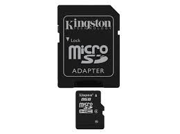 KINGSTON 8 GB SDHC KART CLASS 4
